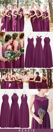 Azazie Raspberry Bridesmaid Dresses – Real Wedding Inspirations