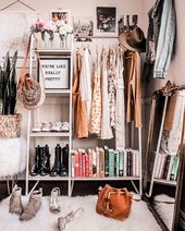Closet Organization Ideas As Told By Michelle #clothingrack #clothesrack #closet … – Schlafsaal