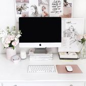 Photo of Hello Monday! In love with this whole desk situation #homeoffice #homeoff …