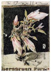 Horst Janssen Huber Edition-Selbstportrait Poster Kunstdruck Bild mit Alu Rahmen