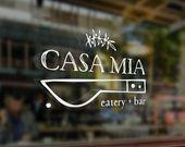 Premade Logo Design, Logo ristorante, Eatery Logo, Premade Design Logo personalizzato, Bar Logo, Logo di cucina, Handmade stile Logo, marchio dell'alimento