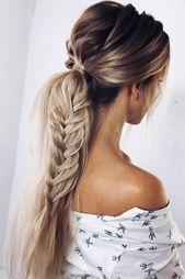 30 Unique Low Ponytail Ideas For Simple But Attractive Looks – #attractive #ideas #looks #ponytail #simple