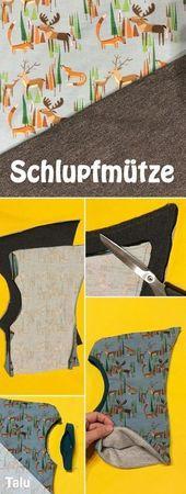 Nähmütze – Anleitung und Anleitung für eine Schalmütze   – Nähen