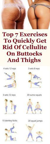 Top 7 Übungen, um Cellulite auf Gesäß und Oberschenkel schnell loszuwerden