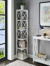 Convenience Concepts Oxford 5-Tier Corner Bookcase – Walmart.com