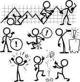 Stickfiguren mit Geschäftsideen