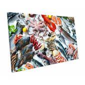 Leinwandbild Fresh Seafood Kitchen Food East Urban Home Größe: 20 cm H x 52 cm B
