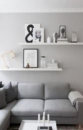 28+ Ideas living room shelves above couch small sp…