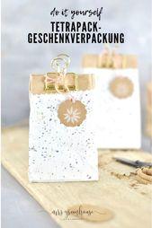 Upcycling Geschenkverpackung aus Milchtüte