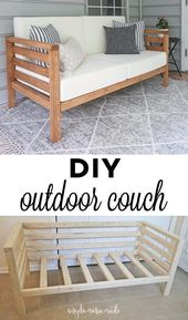 DIY Outdoor Couch How To Build A DIY Outdoor Couch For Only $ 30