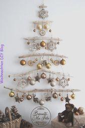 #ChristmascraftsChristmastree #deck #DiY #Ideen #Weihnachtsschmuck DIY Weihnacht… – Nicole Miller