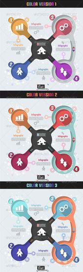 Flat Infographic Banner (Three Versions) Template #design #infografik Download: graphicriver.net/…