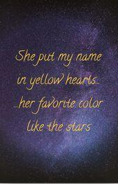 Yellow Hearts Song Lyrics Wallpaper Yellow Heart Lyrics Aesthetic