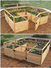 Gestalten Sie Ihren eigenen Gemüsebehälter, um immer gesundes Essen zu haben. … – Garden Decoration