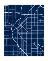 Denver City Map Print / Colorado Poster Art / 8×10 / Available in any color