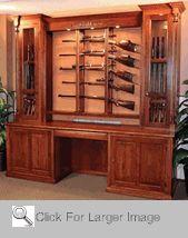 Amish Gun Cabinet  For My Big Hunter :)