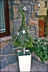 Weihnachtsdeko Hauseingang breitet festliche Stimmung aus – 44 Outdoor Dekoideen