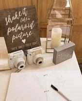 Polaroid Guest Book Sign – rustikale Hochzeit Zeichen – Hochzeit Holzschilder – schütteln Sie es wie ein Polaroid Bild – Hochzeit Gästebuch