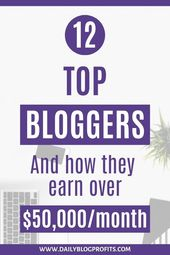 Curious to know how much money top bloggers are ma…