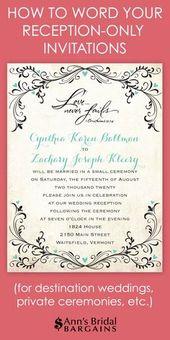 33 Bestes Bild der Aufnahmeeinladungsbenennung nach privater Hochzeit   – Wedding Ideas √