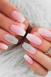Täglicher Charme: Über 50 Designs für perfekte rosa Nägel – Nagelkunst Design