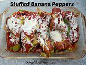 gebackene Bananen mit Paprika   – Stuffed banana peppers