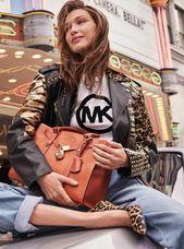 MICHAEL Michael Kors Nouveau Hamilton Grand sac porté main en cuir ...