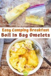 Homemade Boil In the Bag Omelets | Easy Camping Breakfast
