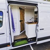 "Phil Lewis on Instagram: ""What an entrance!! 🙋‍♂️ Makes you wanna step inside doesn't it? . . . . . . . . #vanfitout #vanconversions #mercedessprinter #tinyhome…"""