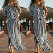 #Button #casual #Frauen #Kleid #Kleider #kurzarm
