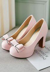 Rosa runde Kappe klobigen Bogen süße Schuhe mit …