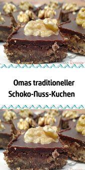 Omas traditioneller Schokoladen-Nuss-Kuchen   – Besondere Kuchen