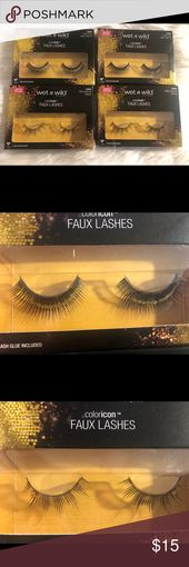 Moist n Wild fake lashes four pack bundle. Restricted version fake lashes  Two with glit…
