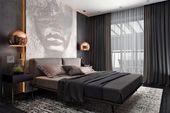 10 wunderschöne dunkle Schlafzimmer, in die Sie sich verlieben werden
