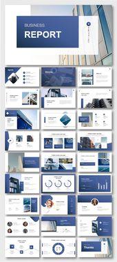 Cool & Modern Blue Business Presentation Template