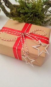 Craft paper christmas wrapping twine 32+ concepts
