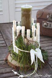 """Christmas Decorations :::: Advent Arrangement """"Röllchen"""" :::: – a unique product by BlumereiBerger on DaWanda"""