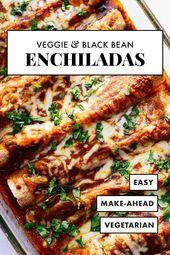 Veggie Black Bean Enchiladas   – Healthy Recipes | Danielle Pascente