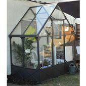 Serre Adossee Fabulous Garden Aluminium Gris Et Vert De 2 94m2 Serre Adossee Serre Jardin Serre