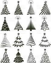 Christmas Tree Collection Royalty Free Vector Illustration Royalty Free Vector Illustration