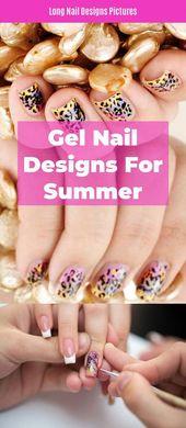 """Fantastische """"Gel Nagel Designs für den Sommer"""" Informationen finden Sie auf unserer Website. Prüfen Sie …   – Gel Nail Designs"""