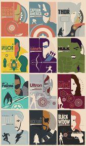 Hervorgehobene Arbeit: 12 minimalistische Rächer Poster von Matt Needle