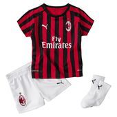 PUMA AC Milan Home Babies' Mini Kit With Socks in Tango Red/Black size 9-12 Months
