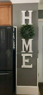 Home wreath   Best Farmhouse Living Room Decor & Design Ideas #Rusticlivingroom