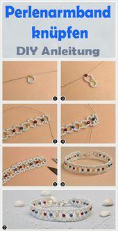 Perlen Armband basteln – kostenlose DIY Anleitung – DIY Basteln & Selbermachen