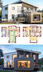 Moderne Villa Architektur Home Plan & Interior Design – Konzept-M 170