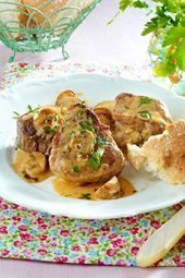Medallones de cerdo en crema de champiñones   – Fleisch ist mein Gemüse | Meat is my vegetable