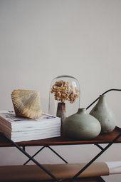 Dekordetails * in natürlichen Farben. | via: Die Sellerie, #interiordesignlivingro …