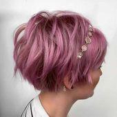 Neueste Trend Pixie und Bob Kurzhaarfrisuren 2019 #bob #hairstyle #hairstyles #latest #Pixie