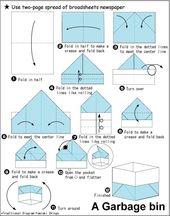Origami-Box aus der Zeitung   – Origami